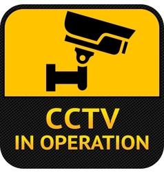Cctv symbol label security camera vector