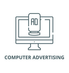 computer advertising line icon computer vector image
