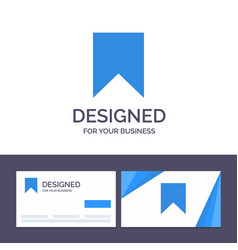 Creative business card and logo template flag vector