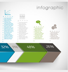 Data in percents infographics vector