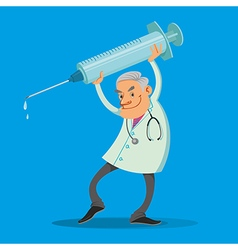 doctor with syringe vector image