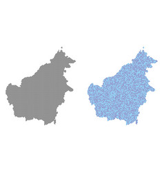 Dot borneo island map abstractions vector
