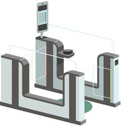 Electronic access control system e-gates vector