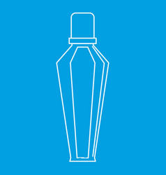 Elegant woman perfume glass bottle icon vector