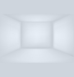 Empty white room minimal 3d interior vector