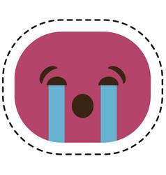 Expression face emoji icon vector