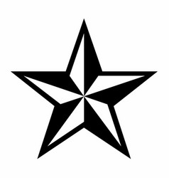 Five pointed star vector