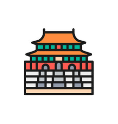 forbidden city china landmark flat color vector image