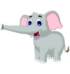 funny elephant cartoon posing for you design vector image