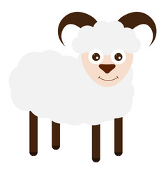 funny sheep on a white background vector image