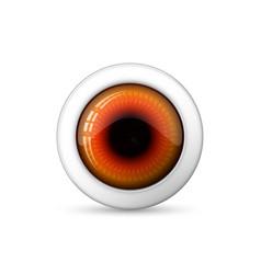 glossy 3d eye vector image