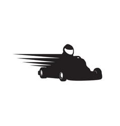 Gokart racer silhouette symbol design vector
