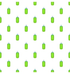 Green air freshener aerosol bottle pattern vector
