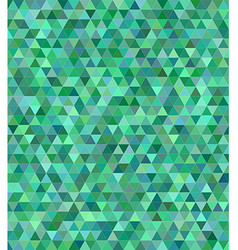 Green triangle mosaic background design vector image