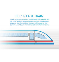 High speed modern rail train concept vector