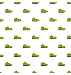 Hiking boots pattern seamless vector