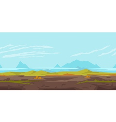 Hills game background landscape vector