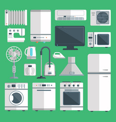 Home appliances isolated on background vector