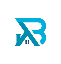 house building logo with letter ab vector image