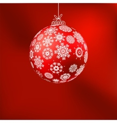 hristmas background with red ball EPS 8 vector image