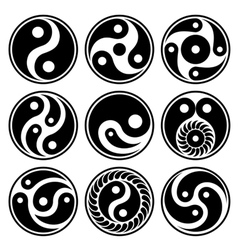 jing jang icons vector image