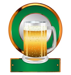 Label with beer glass2 vector image