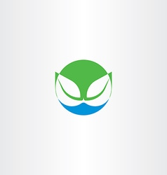 leaves and water bio natural icon symbol vector image