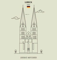lutheran st marys church in lubeck vector image