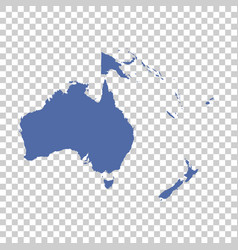 map of oceania on isolated background flat vector image