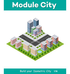 Megapolis city quarter vector