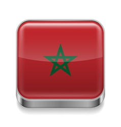 Metal icon of Morocco vector image