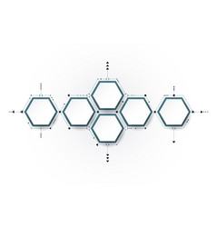 Molecule integrated hexagon background vector