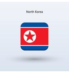 North Korea flag icon vector