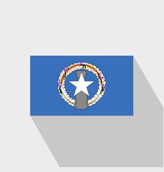 Northern mariana islands flag long shadow design vector