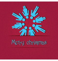 People snowflake vector image