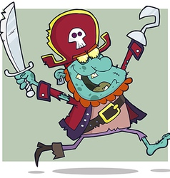 Pirate Zombie With A Cutlass vector