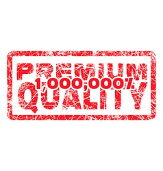 premium quality million percent grungy vector image