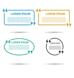 Quotation speech banner quote set icon vector