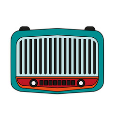 Radio retro old icon vector