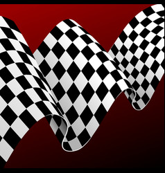 realistic detailed 3d checkered racing flag vector image