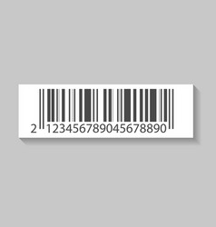 Realistic price barcode isolated icon vector