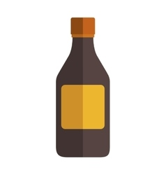 Remedy big bottle with tap and label vector