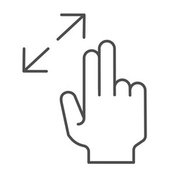 Resize gesture thin line icon zoom in vector