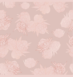 rose gold floral seamless pattern vector image