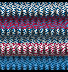 Seamless blue motley knitting vector