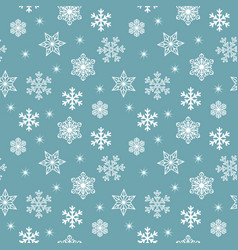 seamless christmas pattern with various white vector image