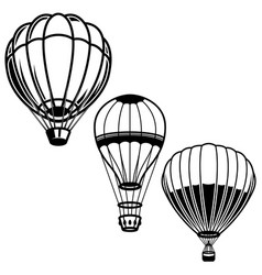 set of of air balloons design element for logo vector image