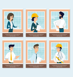 set of of architects at work vector image