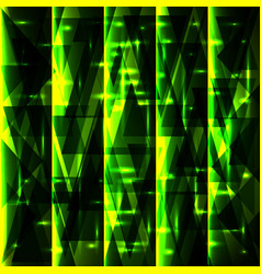 Shiny green pattern of shards and stripes vector