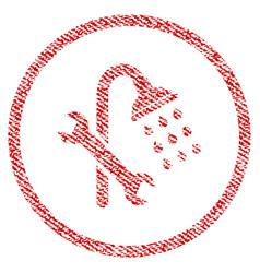 shower plumbing fabric textured icon vector image